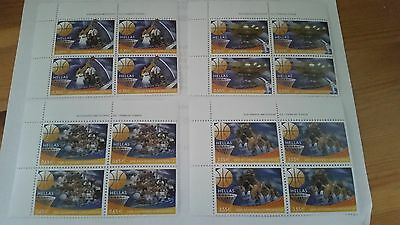 2005 Greece Stamps Eurobasket 2005 Greece Champions Block of 4 Set MNH