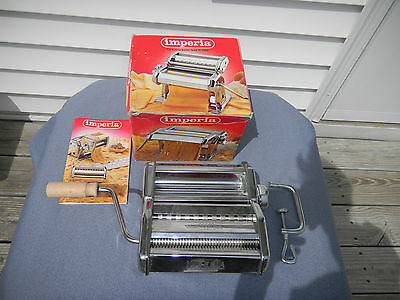 Imperia Pasta Maker Machine, SP150  In Box W Manual!, EUC