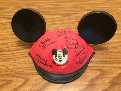 Disney Mickey Mouse Ears Signed by 7 Mouseketeers