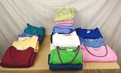GOOD Lot of Womens Scrubs Tops (13) Bottoms (10) Assorted Brands all Size L & up