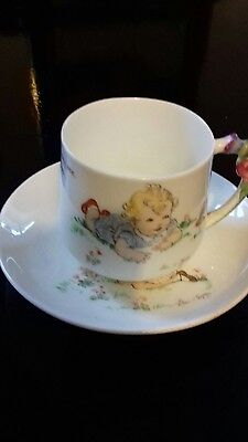 Paragon china, child's nursery teacup and saucer.Eileen Soper: collectable.