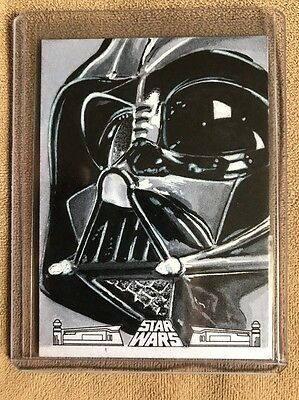 2017 Topps Star Wars 40th Anniversary Sketch Card Of Darth Vader  1/1