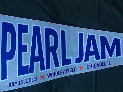 Pearl Jam Wrigley Field Chicago July 19, 2013 Concert Pennant
