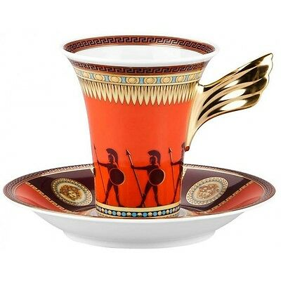 "Versace By Rosenthal, Germany  ""iconic Heroes"" A.d. Cup And 5 Inch Saucer."