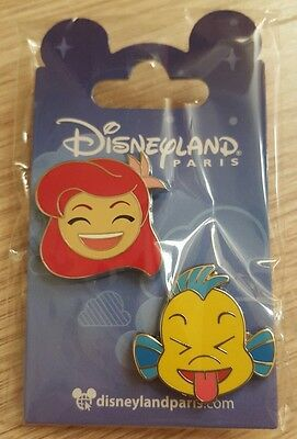 PIN Disneyland Paris SET EMOJI PETITE SIRENE / LITTLE MERMAID OE