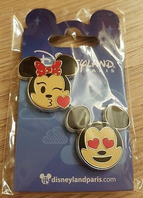 PIN Disneyland Paris SET EMOJI MICKEY & MINNIE OE