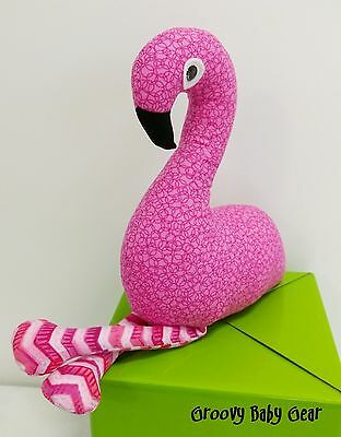 BABY SOFT FLAMINGO TOY Handmade *NEW * FREE POST