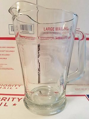UNION PACIFIC ~ CHICAGO COMMUTER OPERATIONS Clear Glass Pitcher ~ NICE! ~