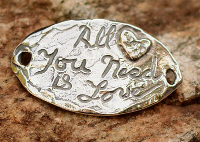 All You Need is Love Sterling Silver Bracelet Focal, 354d
