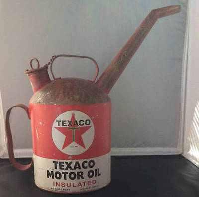 Vintage Texaco Motor Oil Insulated Pouring Can