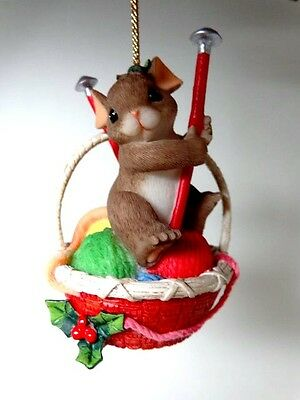 """Fitz & Floyd Charming Tails """"Have A Close Knit Christmas"""" Xmas Ornament 86/151"""