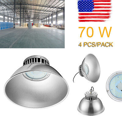 4x 70W LED High Bay Light Warehouse Industrial Factory Lamp Shed Roof Light