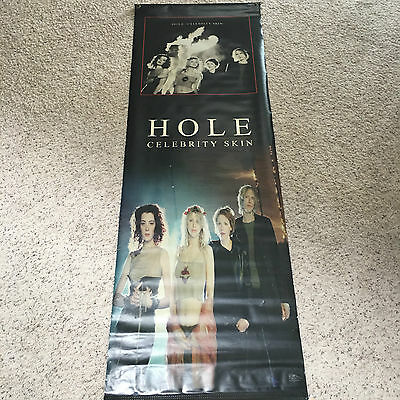 Hole Courtney Love giant 2 sided promo vinyl Poster Celebrity Skin 6FT by 2 FT