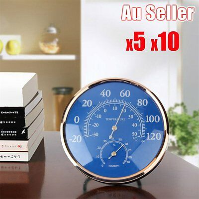 Large Round Thermometer Hygrometer Temperature Humidity Monitor Meter Gauge LO1