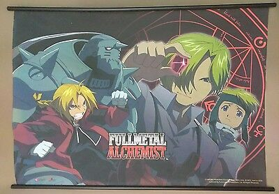 Vintage FULL METAL ALCHEMIST Fabric Poster Wall Scroll Anime