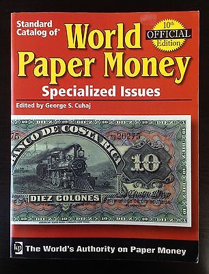 Std Catalog of World Paper Money, Specialized Issues, 10th Ed. Pick - FREE SHIP!