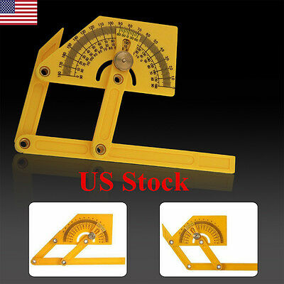 "6"" Goniometer Angle Finder Miter Gauge Arm Measuring Ruler Tool  Protractor USA"