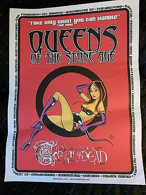 Queens of the Stone Age: Songs for the deaf, tour poster