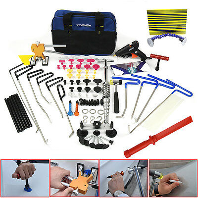PDR Rods Tools Paintless Dent Repair Puller Lifter Auto Hammer Kit Hail Removal