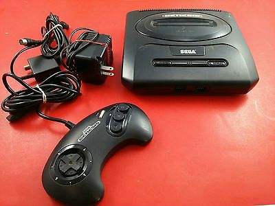 Sega Genesis Model 2 Console System [w/ Official Controller & All Cables] Tested