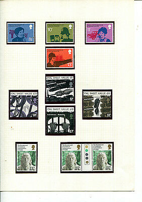 GB QEII STAMP COLLECTION 1976 incl traffic lights =   3 SETS ON HINGELESS PAGES