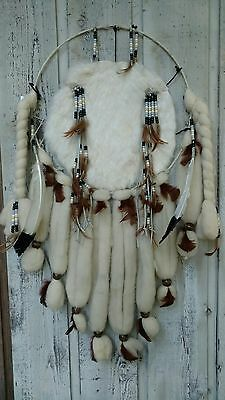 Origin Handmade Native American Indian Mandela Dream Catcher Wool Feathers Beads