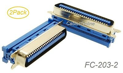 2-Pack Centronics 50-Pin IDC Type Male CN50 Crimp Connector for Ribbon Cable