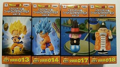 Banpresto Dragon Ball Z Super vol.3 WCF World Collectable figure Set of 4 NEW