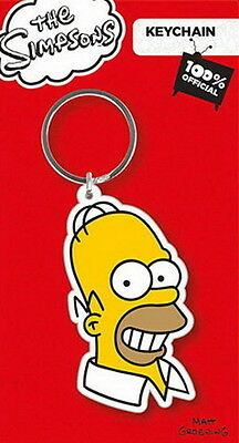 Homer Simpson - The Simpsons - Gummi Schlüsselanhänger / rubber keychain