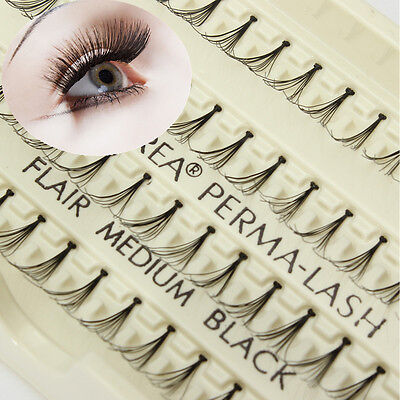 8/10/12mm Naturel Faux Cils Individuel de Extension Noir Volumineux Maquillage