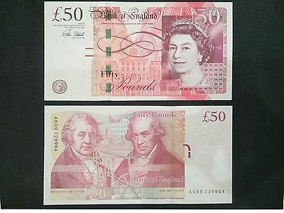 UK Great Britain 50 Pounds, 2015, P-393, banknote, UNC