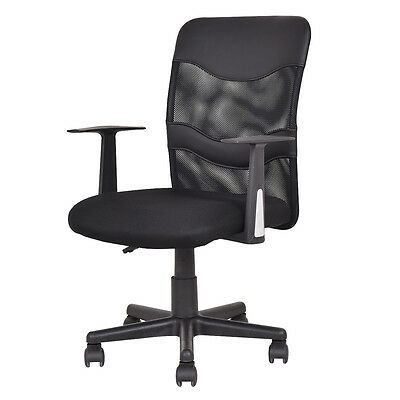 Modern Mesh Mid-Back Executive Computer Desk Task Office Chair Ergonomic Black