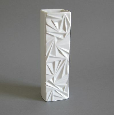 Op Art Vase Winterling 60er 70er Jahre Design Relief weiss Mid Century Modernist