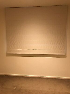 Blockout roman blinds off white -  a house full!