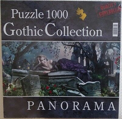 PUZZLE PANORAMA 1000 PIÈCES -- SILENT WHISPERS -- GOTHIC COLLECTION 98 x 33 CMS