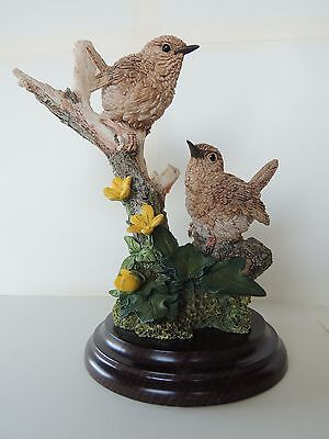 Country Artists Figurine Wren Pair with Buttercups Stratford Collection 1995