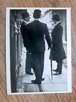 NORMAN PARKINSON Vintage Postcard Back to Formality Savile Row London 1950