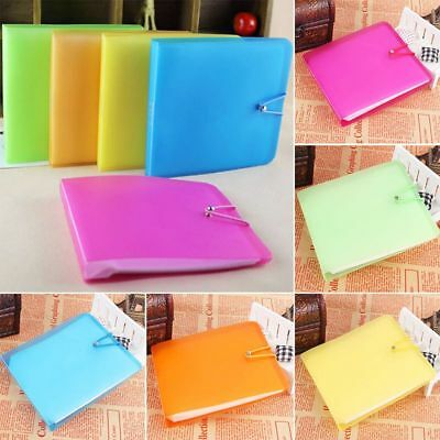 12 Sleeves Plastic CD DVD Blu Ray Disc Carry Wallet Case Holder Storage Cover