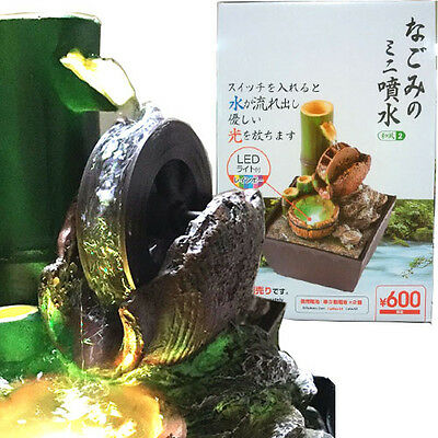 DAISO NAGOMI mini fountain Model Water wheel Water sound LED Relax Room Interior