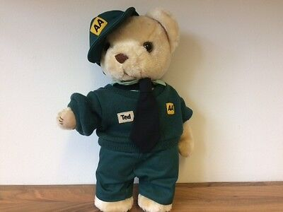 Collectable Vintage Aa Automobile Association Ted The Bear In Uniform
