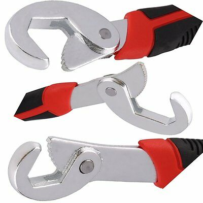 2 pcs Portable Adjustable Quick Snap and Grip Wrench Universal Wrench Set XX