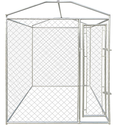 Garden Dog Cage Heavy-duty Outdoor Dog Kennel With Canopy Top 200 X 200 X 235 Cm