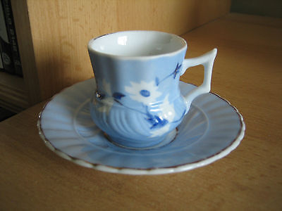 Unmarked Small Ceramic Cup And Saucer