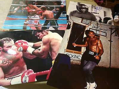 Various Signed Boxing Photos (A). Champs & Challengers 10x8, 12x8 COA