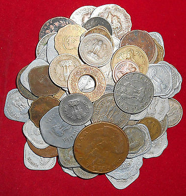 Republic/British India Mix Lot 90 Diffirent Mint & Years & Other Coins (Fc331)