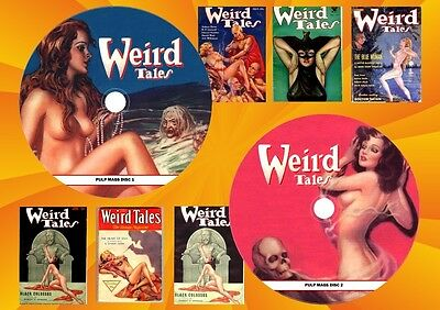 Weird Tales Pulp Magazines On two Dvd Roms