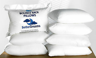 4 Pack Luxury Super Deluxe Medium Bounce Back Fibre Filled BetterDreams Pillows