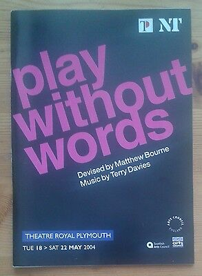 Matthew Bourne's Play Without Words programme Plymouth Theatre Royal 2004