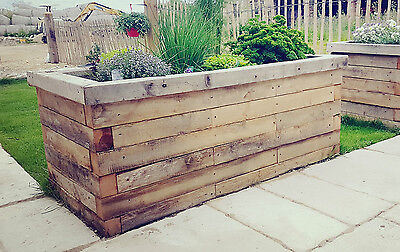 Large, rustic, wooden, Raised bed, herb planter, vegetable planter