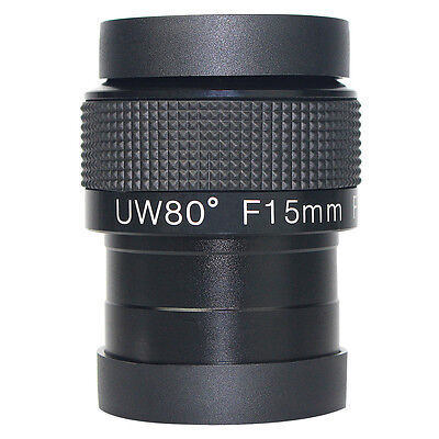 2'' Angle 80 degree Eyepieces Fully Multi-Coated F15mm Ultra Wide For Telescope